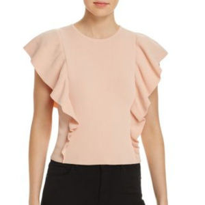 LUCY PARIS | Sleeveless Ruffle Sweater